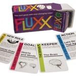 Fluxx, um jogo de cartas no qual as regras mudam